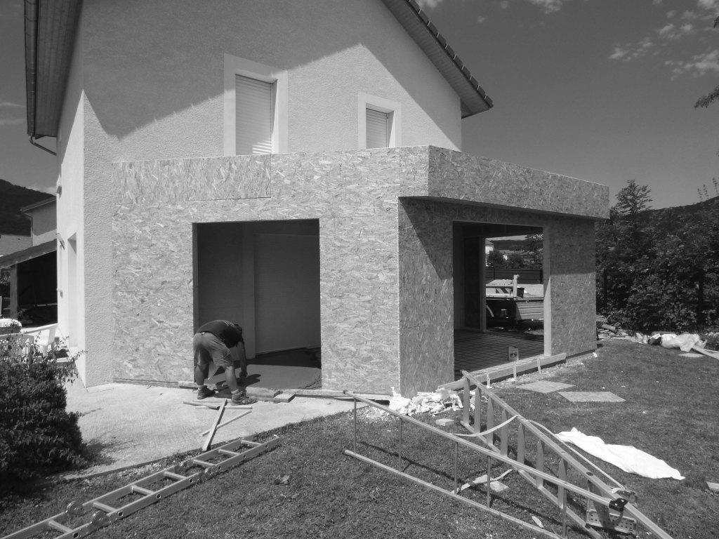 Réalisation dune extension terrasse ossature bois étapes de construction